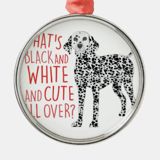 Black And White Metal Ornament