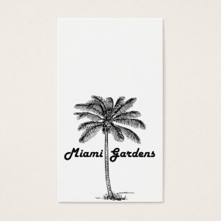 Black and White Miami Gardens & Palm design Business Card