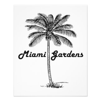 Black and White Miami Gardens & Palm design Flyer