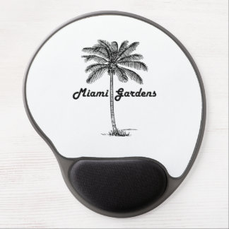 Black and White Miami Gardens & Palm design Gel Mouse Pad
