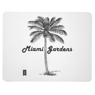 Black and White Miami Gardens & Palm design Journal