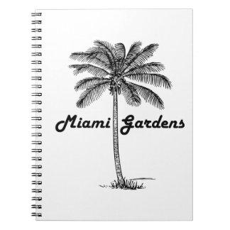 Black and White Miami Gardens & Palm design Notebooks