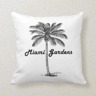 Black and White Miami Gardens & Palm design Throw Pillow
