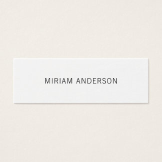 Black and white minimalist business card