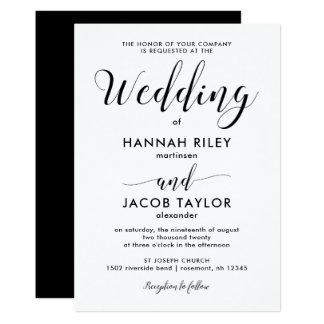Black and White Minimalist Wedding Card