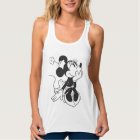 Black and White Minnie Tank Top