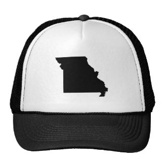 Black and White Missouri Trucker Hat