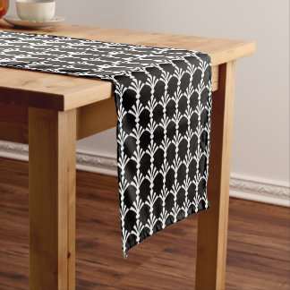 Black And White Modern Art Deco Table Runner