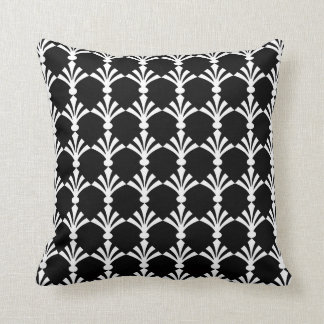 Black And White Modern Art Deco  Throw Pillow