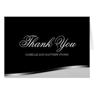 Black and White Modern Couple's Thank You Notes