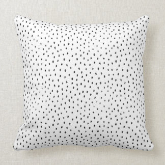 Black and White Modern Doodle Spot Cushion
