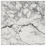 Black and White Modern Faux Marble Pattern Fabric