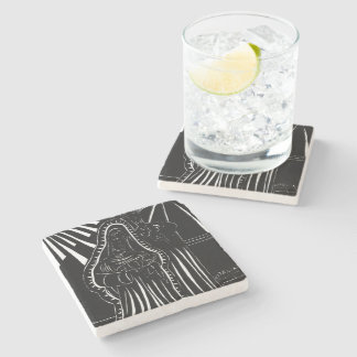 Black And White Modern Holy Family Stone Coaster