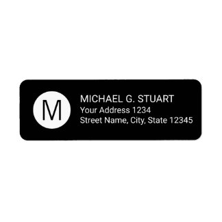 Black and White Modern Minimalist Monogram