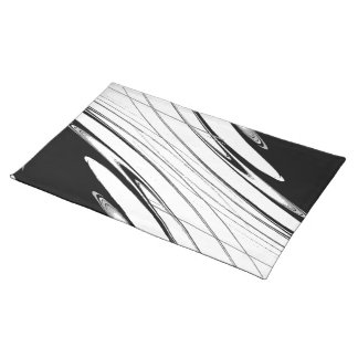 Black and White Modern Placemat