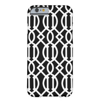Black and White Modern Trellis Pattern Barely There iPhone 6 Case