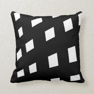 Black and White Monochrome Minimalist Pattern Throw Pillow