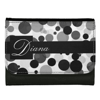 Black and White Monogram Wallets