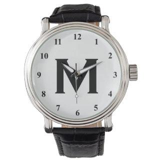 Black and white monogram watches | Customizable