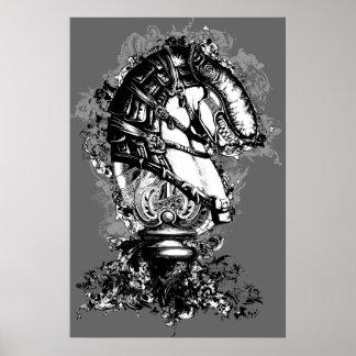 Black and White Monster Poster