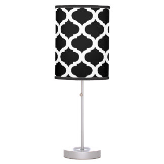 Black and White Moroccan Pattern Table Lamp