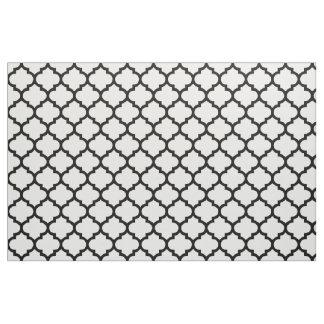 Black and White Moroccan Trellis Pattern Fabric