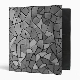 Black and White Mosaic Binder