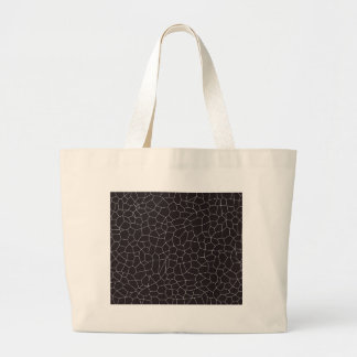 Black and White Mosaic Large Tote Bag