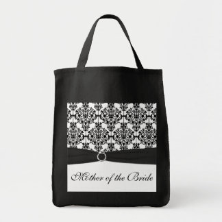 Black and White Mother of the Bride Tote Bag