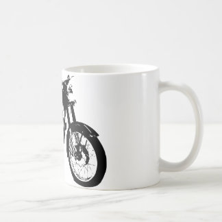 Black and White Motorcycle Drawing Classic White Coffee Mug