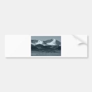 Black and White Mountain Scenes Bumper Sticker