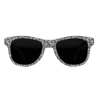 Black And White Music Hearts Pattern Sunglasses