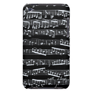 Black and white music notes iPod touch cover