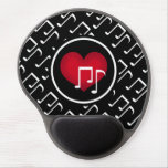 Black and white music notes red heart custom