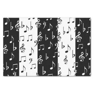 Black and White Music Notes - Tissue Paper