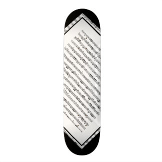 Black and White Music Pattern Customizable Deck 1 Skate Boards