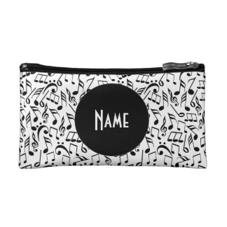 Black and White Music Personalized Clutch