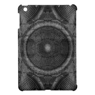 Black and white music speakers iPad mini cover