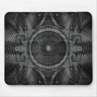 Black and white music speakers mouse pad