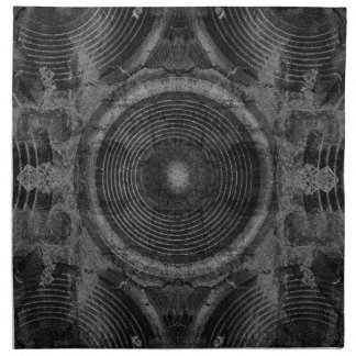 Black and white music speakers napkin