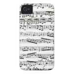 Black and white musical notes iPhone 4 covers