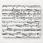 Black and white musical notes mouse pad
