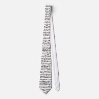 Black and white musical notes tie