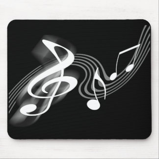 Black and White Musical Scale Mousepad