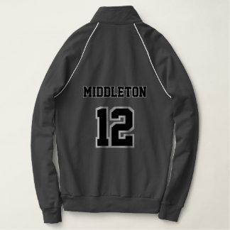 Black and White Name and Number Jacket