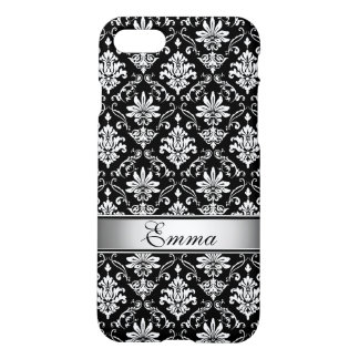 Black and White Named Damask iPhone 8/7 Case