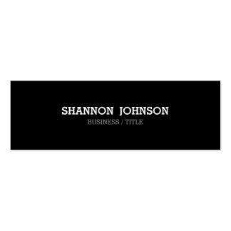 Black and White Narrow Mini business card