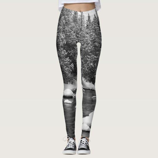 Black and white nature leggings