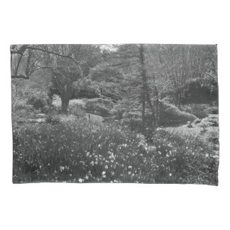 Black and White Nature Scene Pillowcase