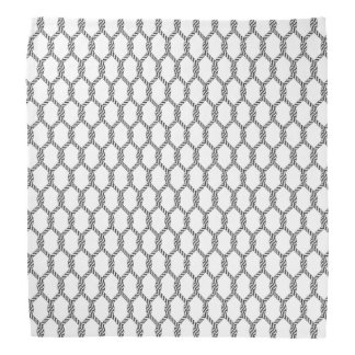 Black And White Nautical Rope Pattern Bandana